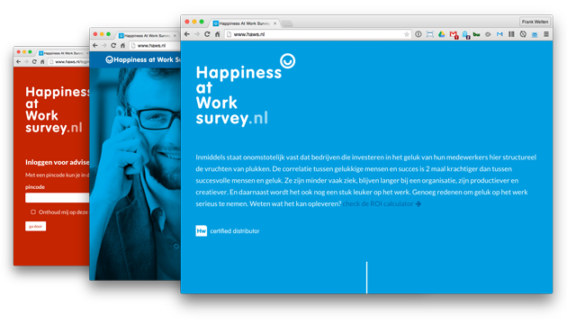 afbeelding van Website voor Happiness at Work Survey